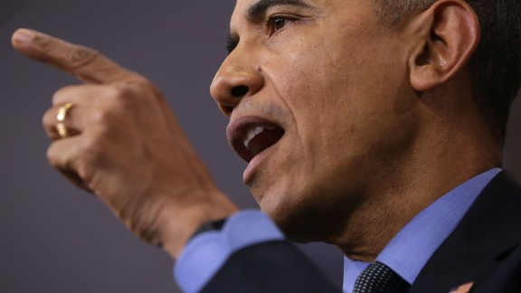 U.S. President Barack Obama speaks to the media during his year end press conference in the Brady Briefing Room at the White House December 18, 2015 in Washington, D.C.