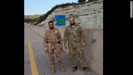 Zahran Alloush, left, reportedly died in an air strike near Damascus