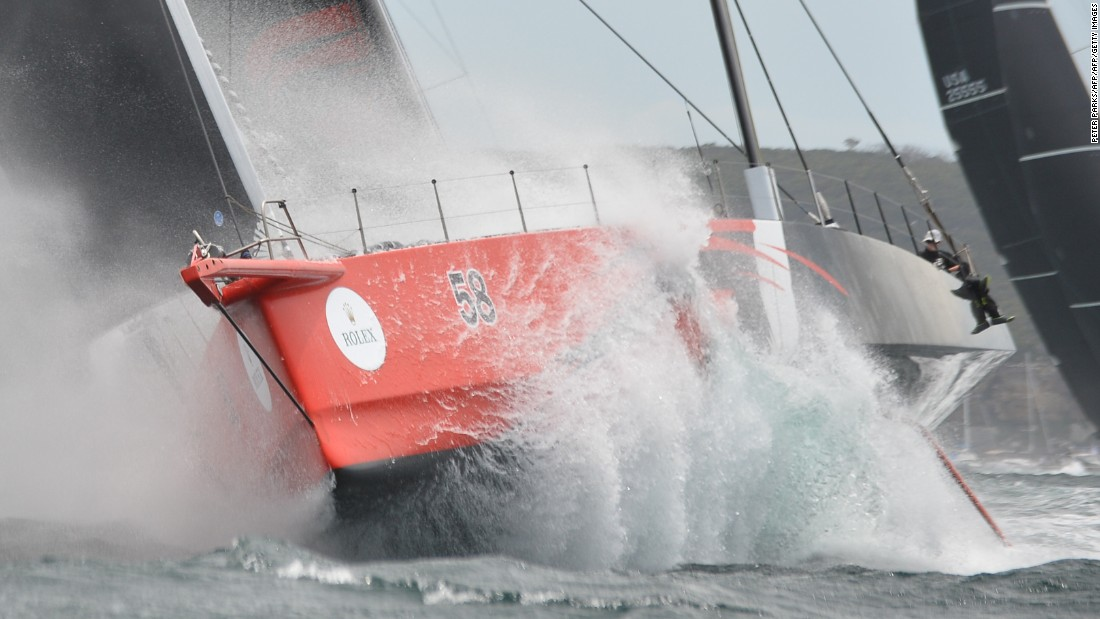 American 100-footer Comanche suffered a blow to its hopes when a broken daggerboard led to damage of its steering system, which the crew repaired at sea on Saturday after briefly retiring from the race.