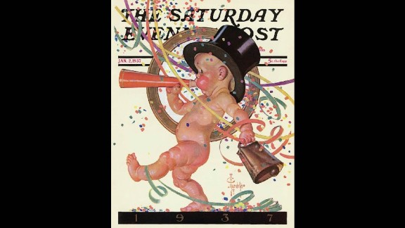 There were signs the Great Depression was winding down and recovery was on the horizon at the end of 1936, so the Post published this festive cover. The economic rebound was short-lived but the image of the fun-loving toddler became a pop culture fixture.