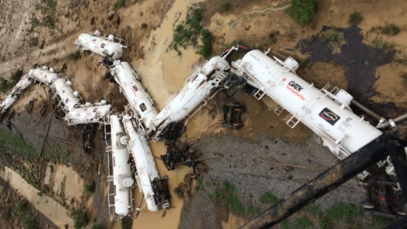 The freight train was carrying sulfuric acid when it came off the tracks in northern Queensland.