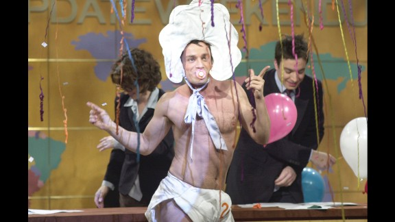 """Former """"Saturday Night Live"""" cast member Chris Kattan rocked out as Baby New Year in a 2000 episode of the show."""