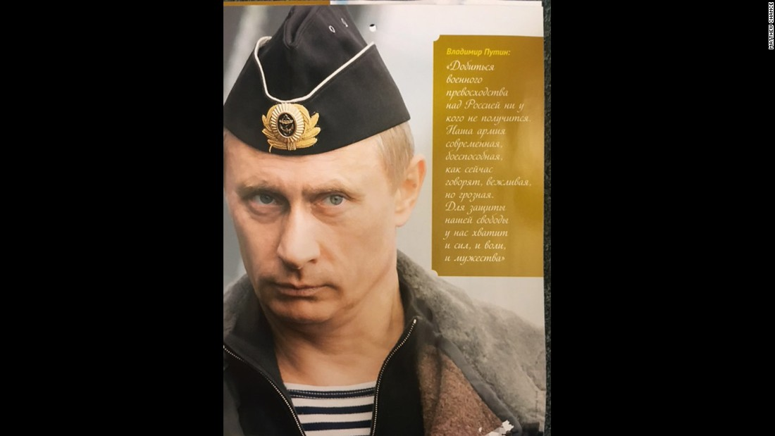 """No one will succeed in gaining military superiority over Russia. Our army is modern, effective and -- as they now say -- polite and formidable. We have enough will, force and courage to protect our freedom.""<br />"