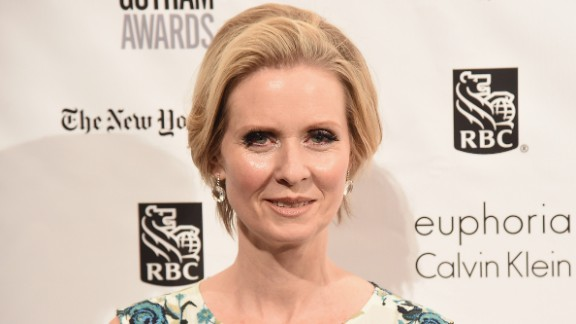 """Cynthia Nixon of """"Sex and the City"""" celebrated on April 9."""