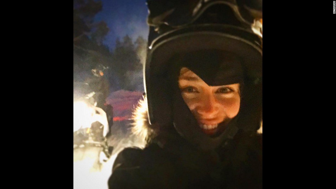 """Do I want to build a snowman.....?! NO! I want to hit 200 mph on a snowmobile!!"" <a href=""https://www.instagram.com/p/_4KmJQI1J0/?taken-by=emilia_clarke"" target=""_blank"">said actress Emilia Clarke</a> on Tuesday, December 29."