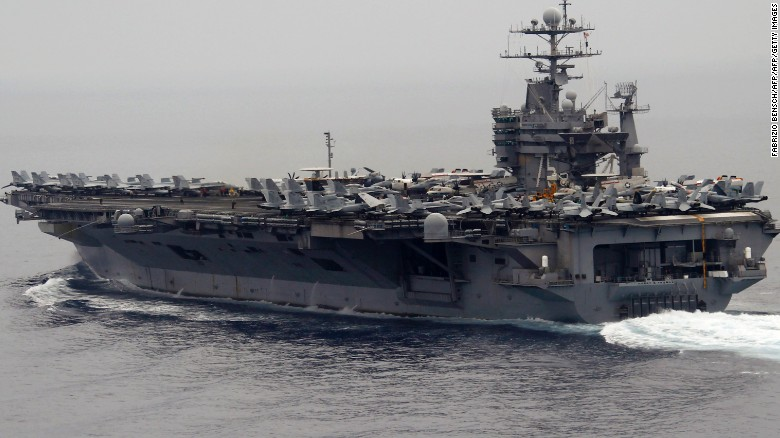 Iranian rocket fired close to U.S. ship