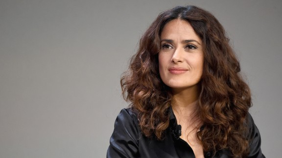 Salma Hayek attends an event at Apple Store Soho in New York City.
