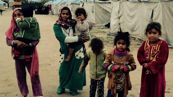 Hundreds of families have fled fierce fighting in Ramadi to a camp at Habbaniyah.