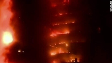 Sources: Dubai fire started with hotel room curtain