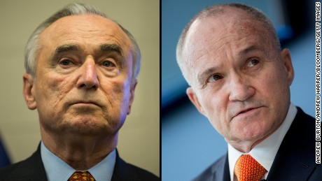 Police Commissioner William Bratton, left, and his predecessor, Ray Kelly, disagree on crime statistics.