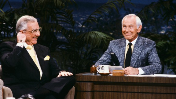 "We've seen Jay, David, Jimmy and Jimmy, but there will never be another Johnny -- Carson, who hosted the ""The Tonight Show"" for 30 years. Though he was always the star, he was usually happy to make himself the butt of jokes or let his guests take the lead."