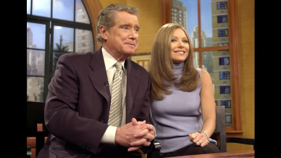 "Over more than six decades, Regis Philbin has done more hosting than almost anybody. In fact, he's in the Guinness Book of World Records as the person who has spent the most time in front of a TV camera. He's hosted local TV shows, morning talk shows (such as ""Live with Regis and Kelly,"" here with Kelly Ripa), late-night shows and game shows, notably the prime-time run of ""Who Wants to Be a Millionaire."""