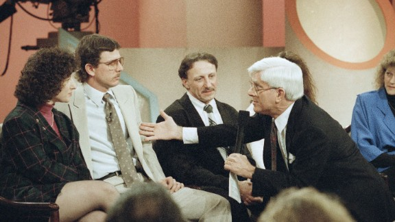 "Phil Donahue's groundbreaking daytime talk show, ""Donahue,"" was known for venturing where other shows (especially daytime talk shows) feared to tread, by addressing subjects such as religion, sexuality and politics. Yet Donahue was respectful of other opinions and brought the audience along, even if they had to call in. (""Is the caller there?"" became a Donahue catchphrase.) He later had a show on MSNBC."