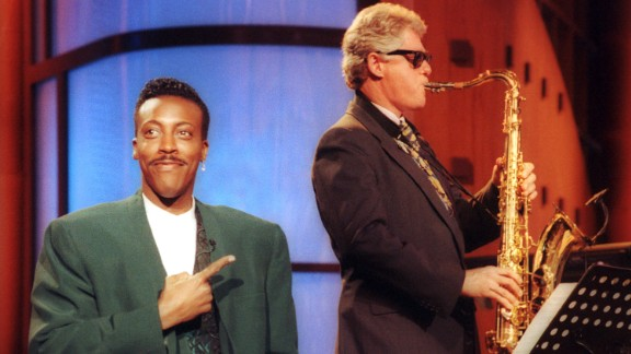 "Arsenio Hall broke ground with his late '80s/early '90s talk show, ""The Arsenio Hall Show,"" bringing African-American culture to late-night TV. He attracted a presidential candidate named Bill Clinton, who went on to greater success."