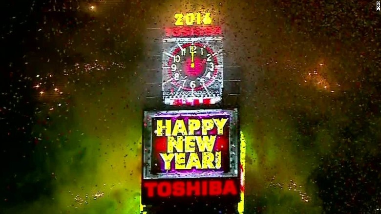 Watch Times Square New Year's Eve ball drop