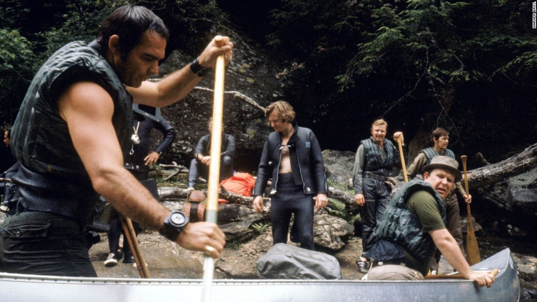 "1972's ""Deliverance,"" directed by John Boorman, featured four Atlanta men -- played by Burt Reynolds, left, Ned Beatty, right, Ronny Cox and Jon Voight -- taking on the North Georgia wilderness."