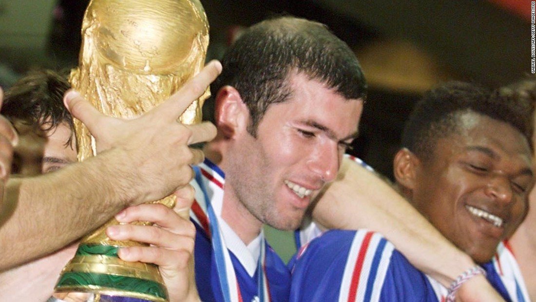 Eight years earlier, he inspired France to a World Cup triumph on home soil. In the final against Brazil, Zidane scored two first-half goals as France ran out 3-0 winners.
