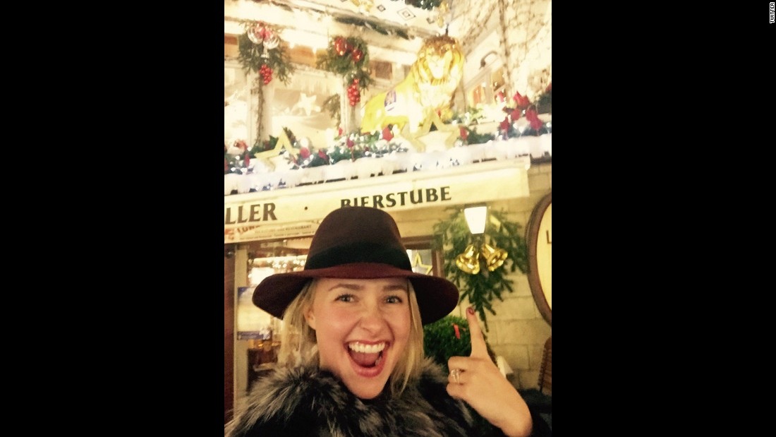 """Happy belated New Year everyone!!!!"" <a href=""https://twitter.com/haydenpanettier/status/683298577184075776"" target=""_blank"">tweeted actress Hayden Panettiere</a> on Saturday, January 2."