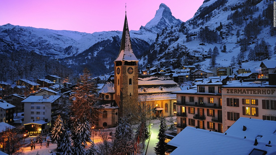 The famed Valais village of Zermatt sits below the iconic Matterhorn peak. This car-free resort offers upscale boutiques, world-class skiing and a thriving apres-ski scene.