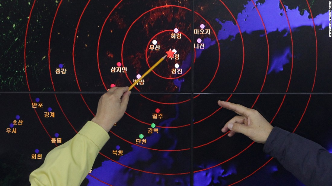 "On January 6, <a href=""http://www.cnn.com/2016/01/06/asia/north-korea-hydrogen-bomb-test/"">North Korea claims to have successfully tested a hydrogen bomb</a>. Seismic waves indicate an ""artificial earthquake"" near Punggye-ri, North Korea's main nuclear testing site."