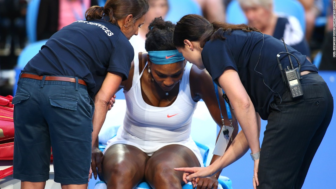 <strong>Trouble Down Under: </strong>American Serena Williams is struggling with a left knee injury in the build-up to the defense of her Australian Open title as the world No.1 pulled out of the Hopman Cup. Williams is one of a host of leading players on the women's tour with injuries less than two weeks before the Melbourne major.