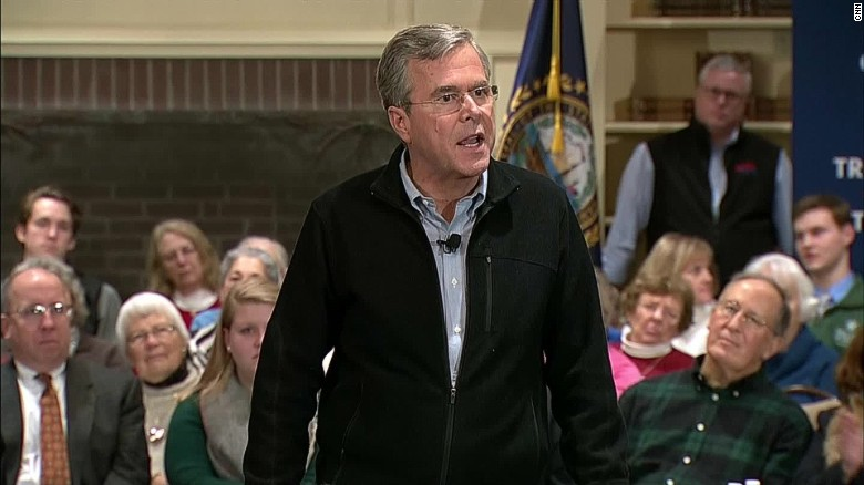 Jeb Bush asked why he called Donald Trump a 'jerk'