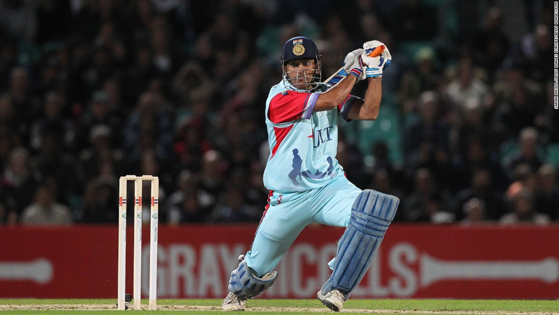 "MS Dhoni smashes a boundary during a charity match at The Oval cricket ground in London last September. India's captain in limited-overs cricket said Pranav's incredible knock was ""no joke."" <br /><br />""Scoring 1,009 runs is not a joke. It's a tremendous effort and shows a glimpse of talent,"" Dhoni told reporters, AFP reported."