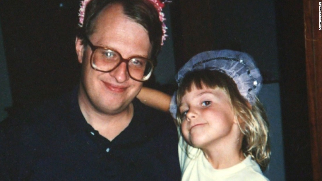 "CNN anchor and correspondent Poppy Harlow and her dad James Harlow celebrate his birthday when she was a young child. Harlow says her father ""taught me to live in the moment"" and to love every ounce of life. He died when she was just 15 years old."