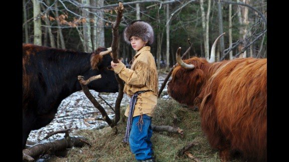 Apart from studying traditional subjects, Roan and his sister help with every aspect of farm work.