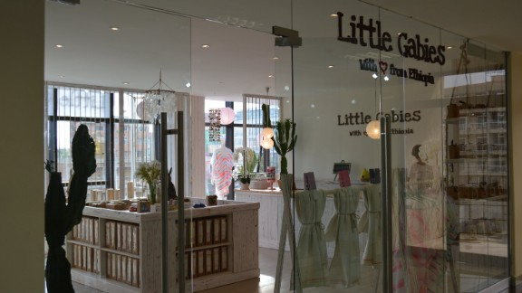 From a recently-opened shopping mall, Snap Plaza, Little Gabies sells accessories for new mums and babies.