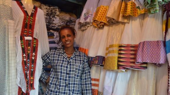 A trader in Shiro Meda, Addis