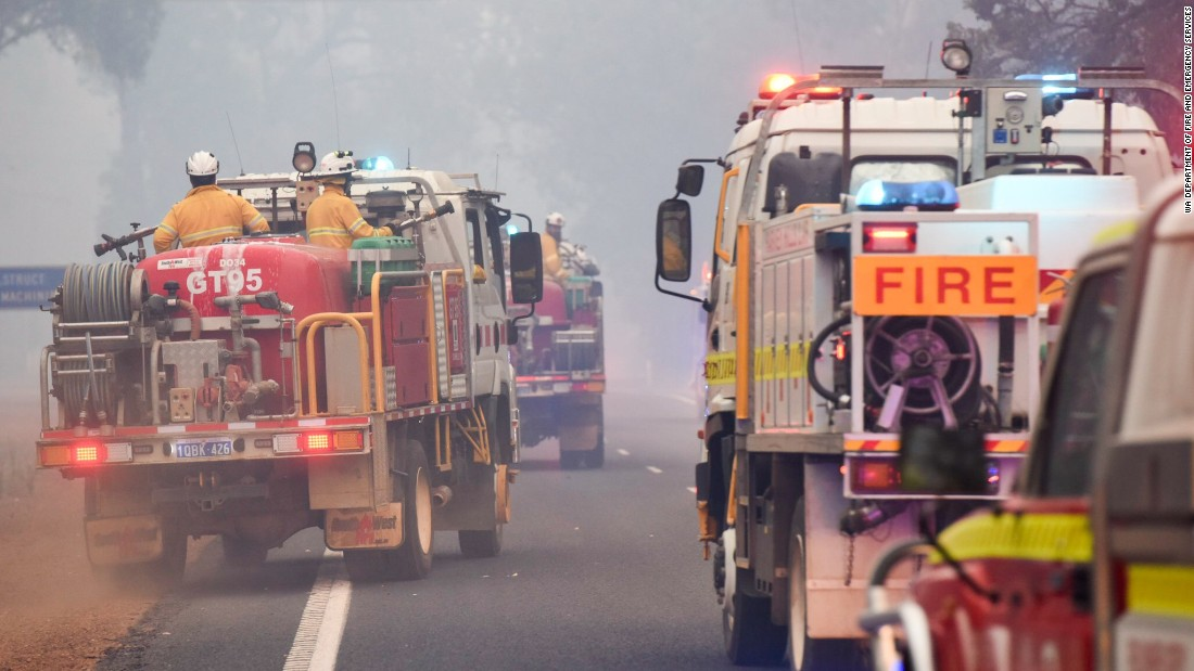 The first calls came early in the morning of January 6. The blaze is believed to have been sparked by lightning, according to  emergency services officials.