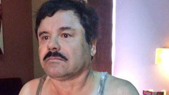 """An image provided Friday by an unidentified source purports to show Joaquin """"El Chapo"""" Guzman Loera handcuffed after his detention in a place in Mexico not yet revealed by authorities."""