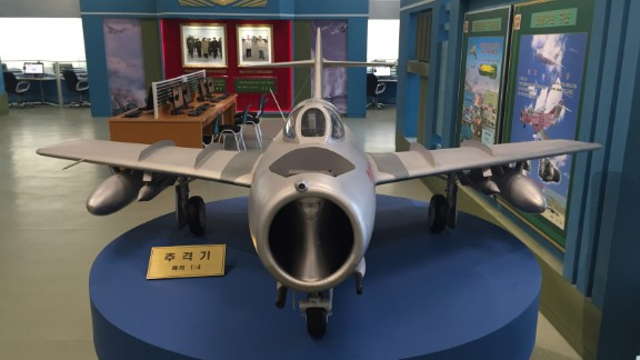 The center includes exhibits that highlight technological as well as scientific development, such as this fighter jet.