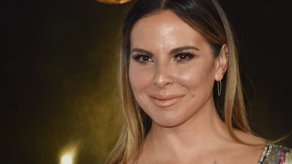Actress Kate del Castillo arrives for an event in Hollywood, California, on November 9, 2015.