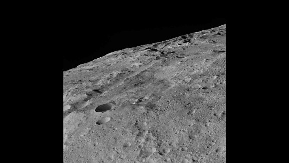 You get a close-up view of the southern part of Ceres in this image taken on December 10, 2015. You can see craters, troughs and grooves.  The spacecraft took these images while it was about 240 miles (385 kilometers) above Ceres, its lowest ever orbit. Dawn will remain at this altitude for the rest of its mission.