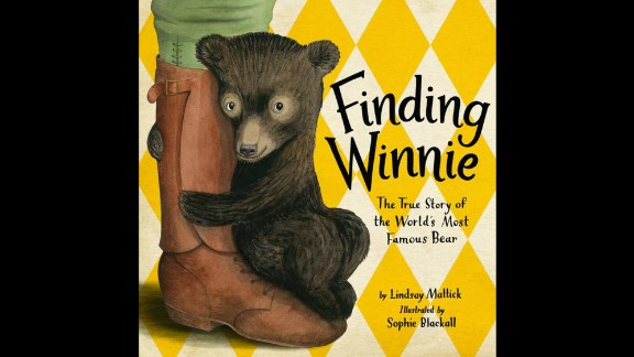 "The Randolph Caldecott Medal for the most distinguished American picture book for children: ""Finding Winnie: The True Story of the World's Most Famous Bear,"" illustrated by Sophie Blackall and written by Lindsay Mattick."