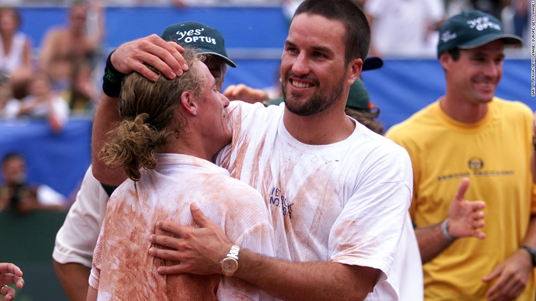 Hewitt's former coach Darren Cahill says the Adelaide native's greatest victory came against Gustavo Kuerten during a 2001 Davis Cup tie in Brazil, where Australia won 3-1.