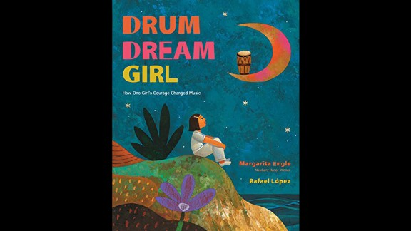 "Pura Belpré (Illustrator) Award honoring a Latino writer and illustrator whose children's books best portray, affirm and celebrate the Latino cultural experience: ""The Drum Dream Girl,"" illustrated by Rafael López and written by Margarita Engle."