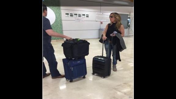 Kate del Castillo arrives at Guadalajara International Airport on September 25, 2015, from Los Angeles. (El Universal)