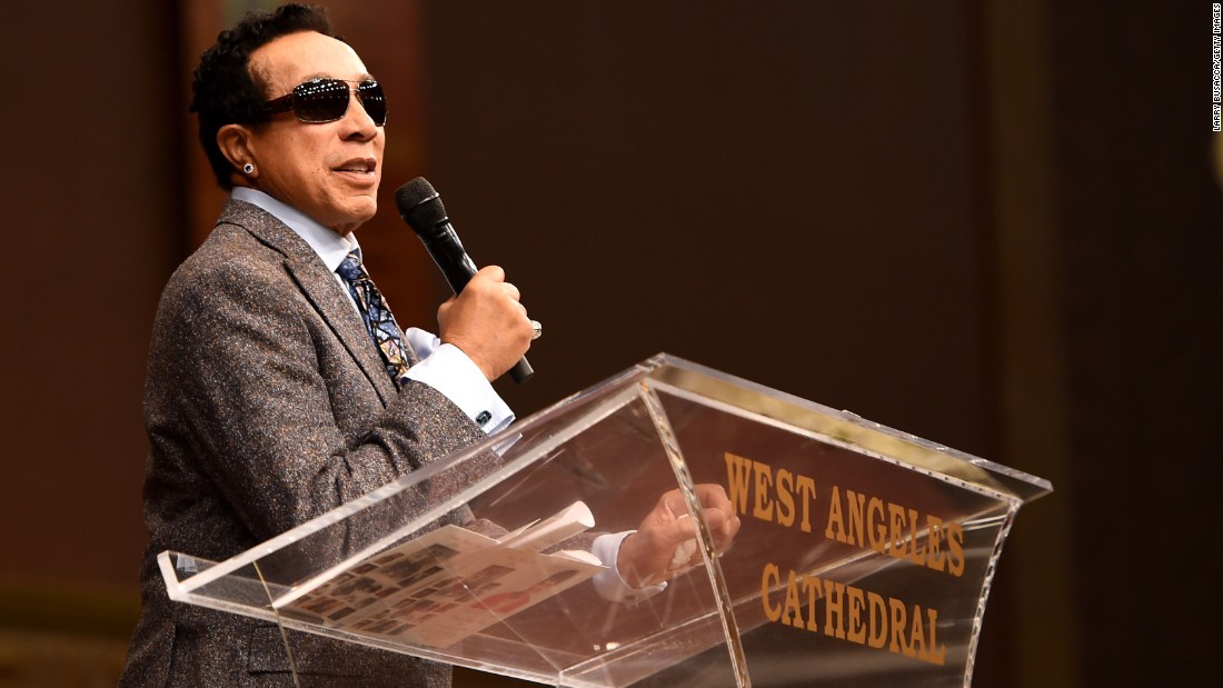 Smokey Robinson was among the speakers.