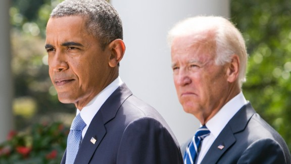 U.S. President Barack Obama (L) joined by Vice President Joe Biden delivers a statement on Syria in the Rose Garden of the White House on August 31, 2013 in Washington, DC. Obama states that he will seek Congressional authorization for the U.S. to take military action following the events in Syria.