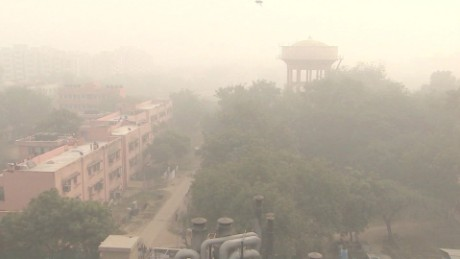 Pollution levels regularly exceed recommended safe levels in the Indian capital.