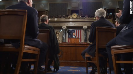 President Barack Obama delivers the State of the Union address on January 20, 2015, in the House Chamber of the U.S. Capitol.