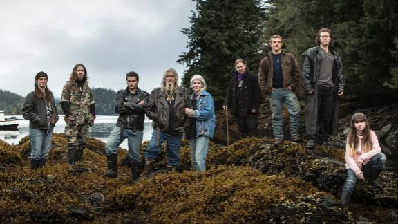"The Brown family, from left: Snowbird, Solomon, Gabe, Billy, Ami, Noah, Matt, Joshua ""Bam Bam"" and Rain."
