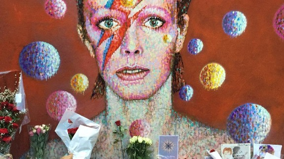 Fans mourn David Bowie in south London: Are we mourning the soundtrack of our former selves?