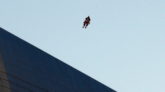 Australian Chris McDougall jumps from the top of Al Hamra Tower -- approximately 1,355 feet high -- in March 2013.