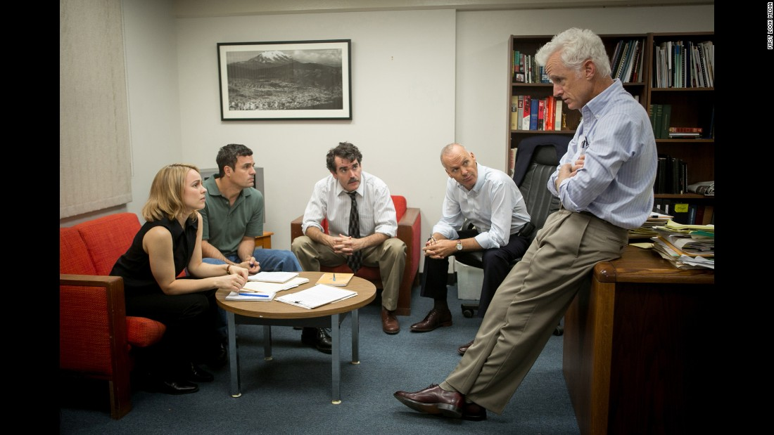 """Spotlight"" -- a film about Boston Globe investigative reporters digging into a sex abuse scandal involving Catholic priests -- won best picture at the 88th annual Academy Awards."