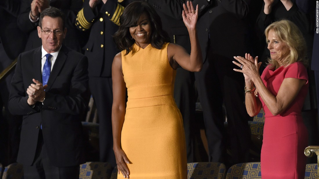 Michelle Obamas Dress At State Of The Union Draws Raves Cnn