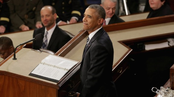 WASHINGTON, DC - JANUARY 12:  U.S. President Barack Obama acknowledges applause during the State of the Union speech before members of Congress in the House chamber of the U.S. Capitol January 12, 2016 in Washington, DC. In his last State of the Union, President Obama reflected on the past seven years in office and spoke on topics including climate change, gun control, immigration and income inequality. (Photo by Chip Somodevilla/Getty Images)